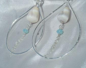 Sterling Silver Hammered Teardrop earrings