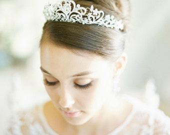 Swarovski Crystal Bridal Tiara FAITH Bridal Tiara Silver Crystal Wedding Crown Rhinestone Tiara Bridal Tiara, Diamante Diadem, Crystal Crown