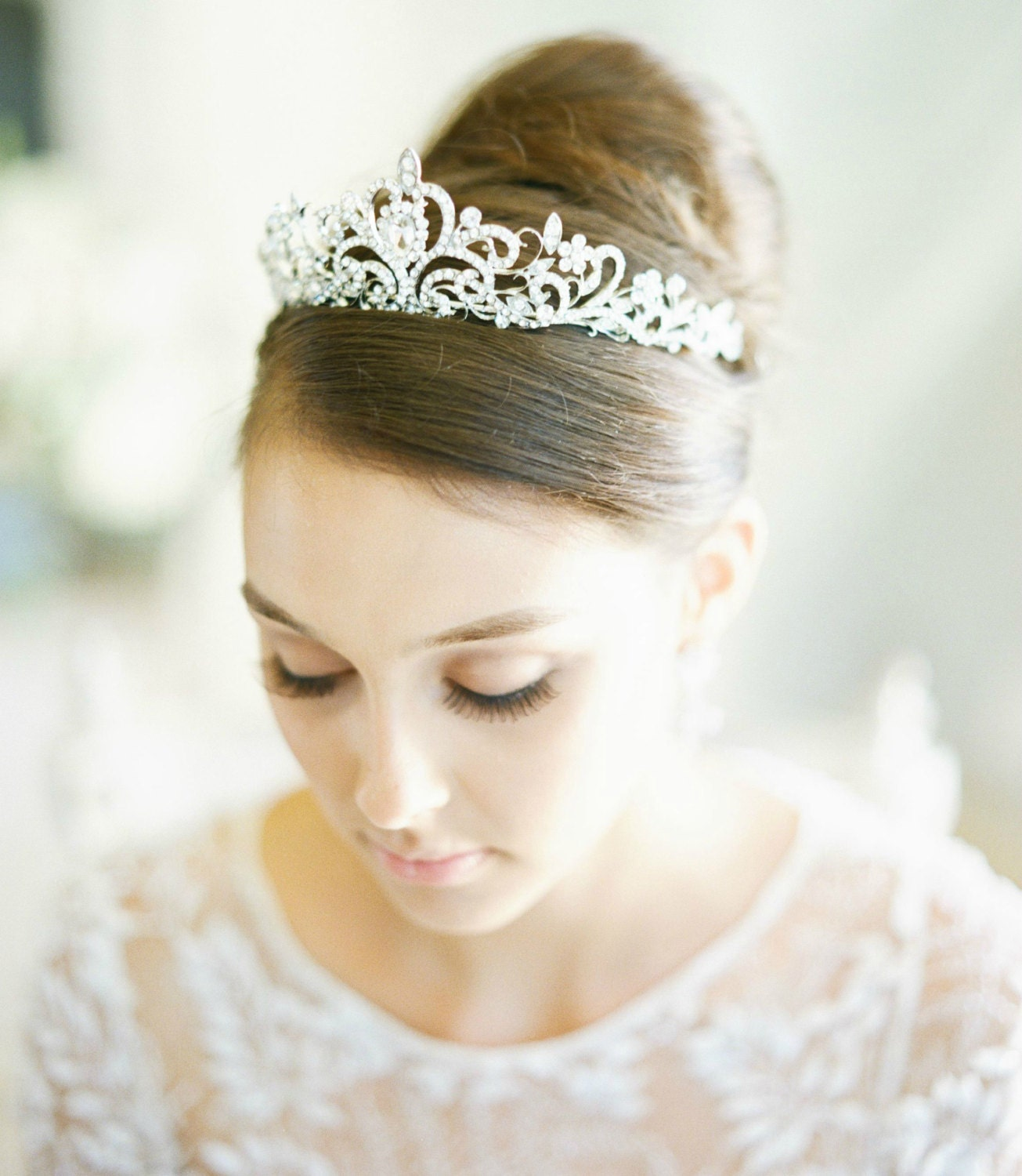 Swarovski Crystal Bridal Tiara FAITH Bridal Tiara Silver