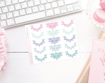 Colourful Mandala Header Planner Stickers