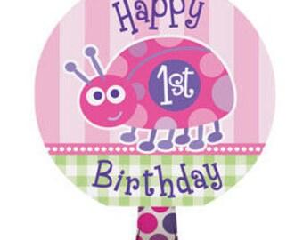 1st Birthday Girl Ladybug Blowouts 8ct
