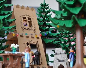 Bucolic dacha - House cardboard toys