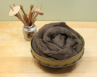 Finnish Wool - Natural Brown- Undyed Roving for Spinning or Felting (8oz)