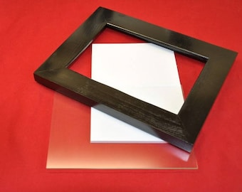 5x7 Picture Frame with Glass Backing and Mounting Hardware