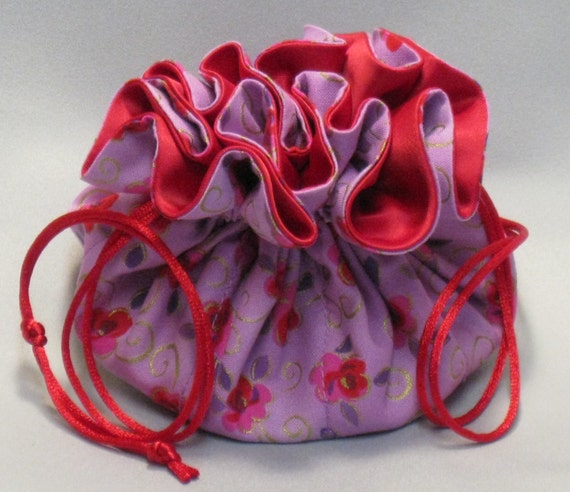 Jewelry Travel Tote---Red Hat Ladies ---Organizer Pouch---Regular Size