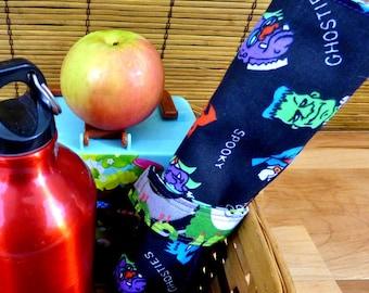 Kooky Spooky Zero Waste Children's Roll Up Placemat Set