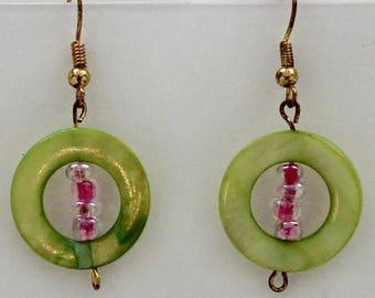 Spunky Green and Pink Circles