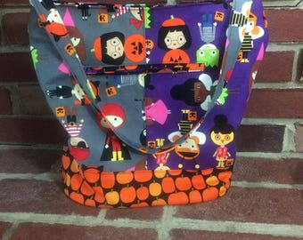 Halloween Bucket Bag, Fall Purse, Bonnie Bucket Bag