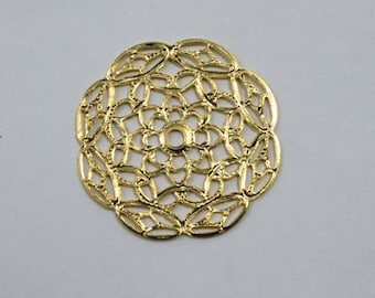 30mm Filigree #21 Gold (2 Pcs)