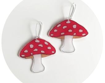 Toadstool Drop Earrings
