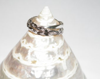 Handcrafted Sterling Silver Interlocking Triple Band Rolling Ring Trinity Russian Wedding