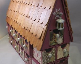 Christmas Advent Calendar House! Christmas Countdown wooden shingles
