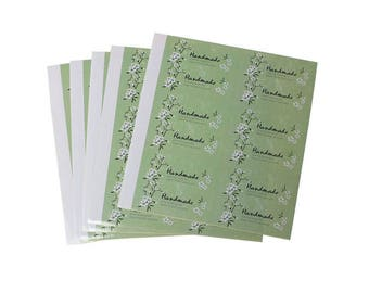 120 labels, adhesive labels, hand made, hand made, hang power stickers * 73202