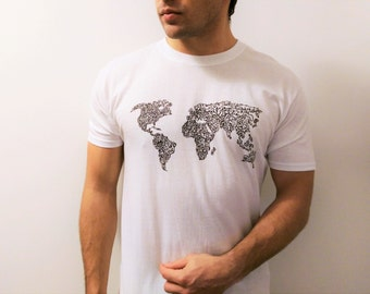 Cartography etsy sale world map arabic calligraphy t shirt art top cartography unique original artwork gumiabroncs Gallery