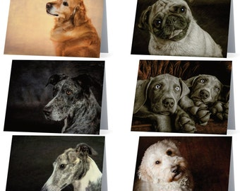 Assorted Dog blank note cards - pack of 6 different dogs, Gifts for dog lovers, gifts for dog owners, gifts for dog moms