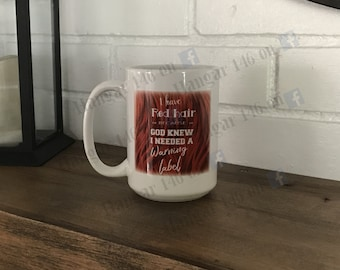 Red Head warning mug