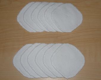 Cotton Rounds 12 White Makeup Squares Washable Reusable