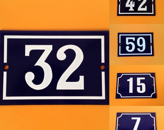Vintage French House Numbers
