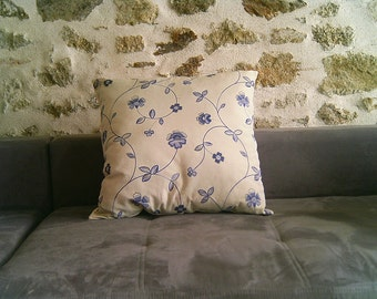 Large cushion with flowers