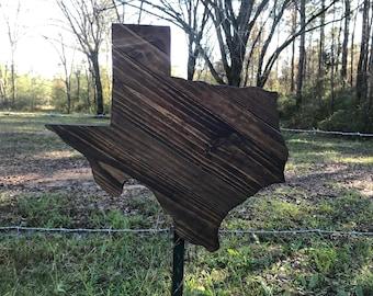 Rustic Wood Texas Sign