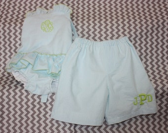 This listing is sister and brother listing   1 piece girl and boy swimsuit