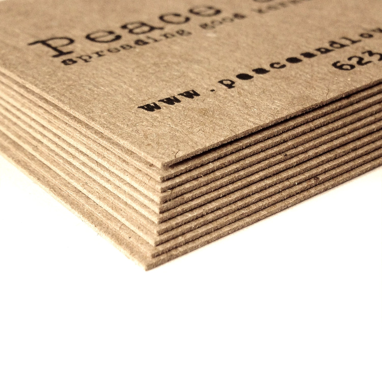 Thick Kraft business cards Set of 50 Kraft Business