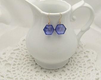 Faceted Purple Earrings
