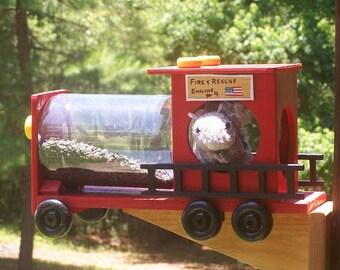Fire Truck Squirrel Feeder