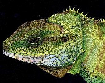 Brody the Chinese Water Dragon Art Print