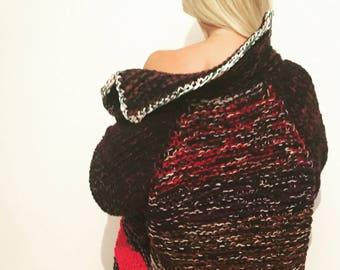 Handmade knitting coat