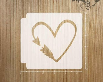 Arrow Heart 783-194 Stencil