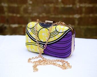 Print clutch bag Ankara clutch bag Box clutch Fabric box clutch Tribal clutch bag, Bright coloured Bag Clutch Bag Accessories Gift