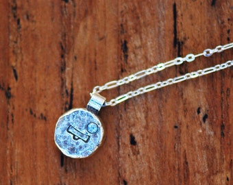 Element Libra Zodiac Necklace- Sterling Silver