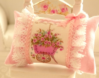 dollhouse  shabby chic miniatures pillows