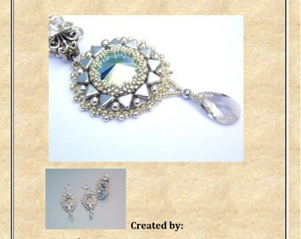 Tutorial , Pattern, Bead embroidery ,Beading pattern , Instructions only , Rime set