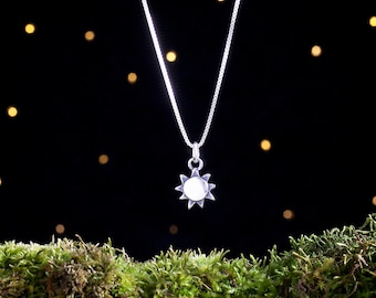 Sterling Silver Sunshine - 3D Double Sided - (Charm Only or Necklace)