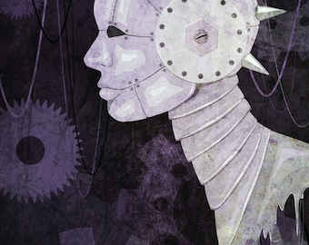Robot Head and Gears Print