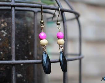 Tricolor earrings