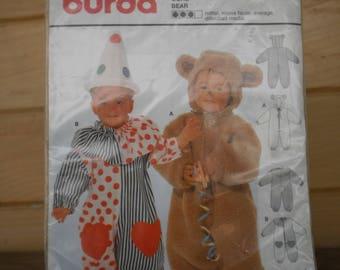 Pattern costume burda 4946 clown and bear
