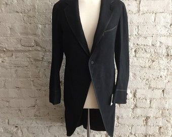 Brooks Brothers 1920s black wool cutaway morning tailcoat frock coat