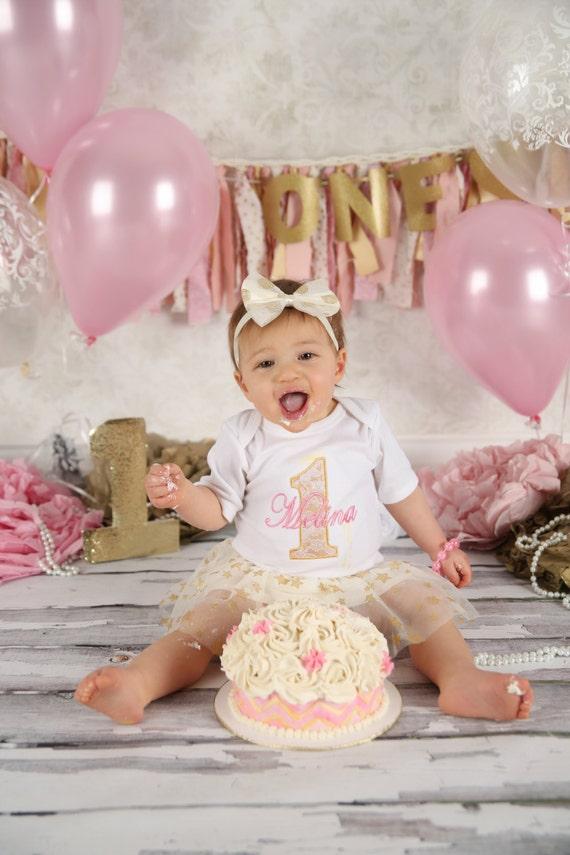 First Birthday Girl Personalized 1st Birthday Girl Smash Cake