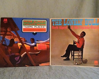 Herb Alpert And The Tijuana Brass – The Lonely Bull 1962 , !!Going Places!! 1965 (lot of 2 x LP, Album, Vinyl Record ) Jazz Music- set #2