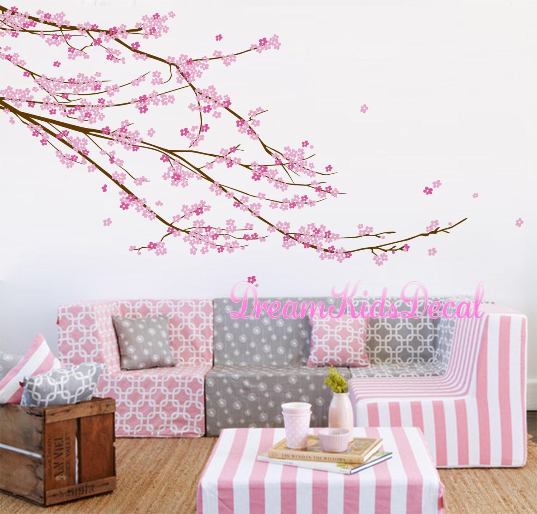 Kirschblüte Baum Wandtattoo Baby Mädchen Kinderzimmer