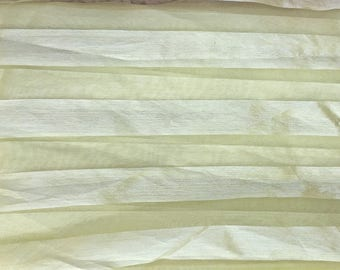 5 m organza pale yellow banded satin, 150CM, 73