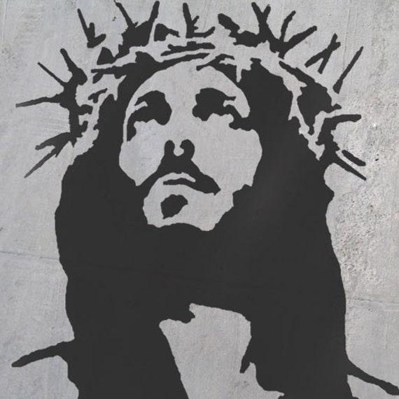 Black Jesus Wall Art: Jesus Art Stencil Stencils Religions Wall Art Decorative
