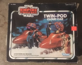 Star Wars Empire Strikes Back Twin Cloud Car with Box Kenner 1982