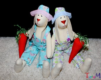 Handmade Tilda rabbit 44 cm (17 inches) Eco Toy Plush Stuffed toy tilda bunny