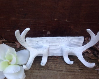 Antler, Antler Wall Decor, Shabby Chic Antlers, HARdWAre INCLuded