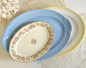 vintage platters mismatched platter dishes