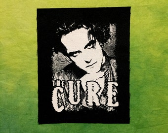 THE CURE Patch Goth Gothic Deathrock Post Punk Rock Robert Smith Singer Band Patches Face Album Cover Sew On Silkscreen Screen Printed DIY